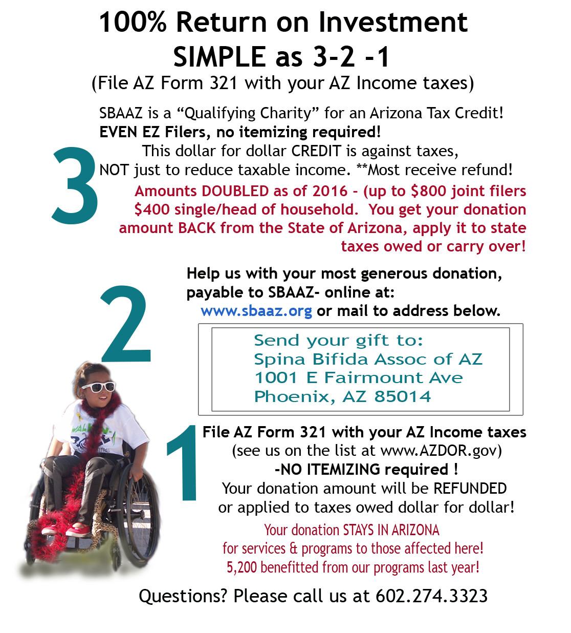 AZ Tax Credit   Spina Bifida Association of Arizona